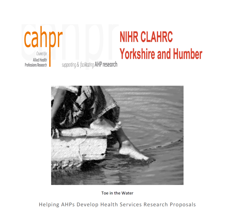 Toe in the water publicity with cahpr and CLAHRC FINAL