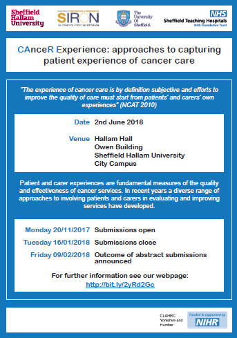 02062018 Cancer Experience Flyer 2018